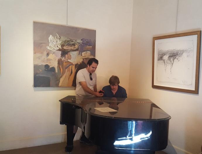 Vardan and Alexander are playing piano