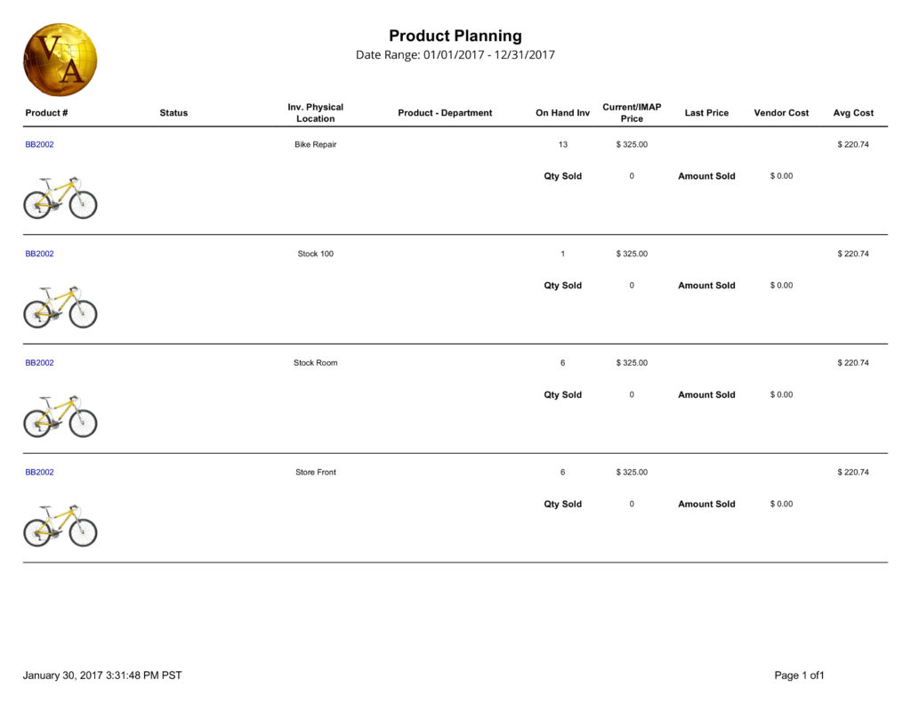 Product Planning Report