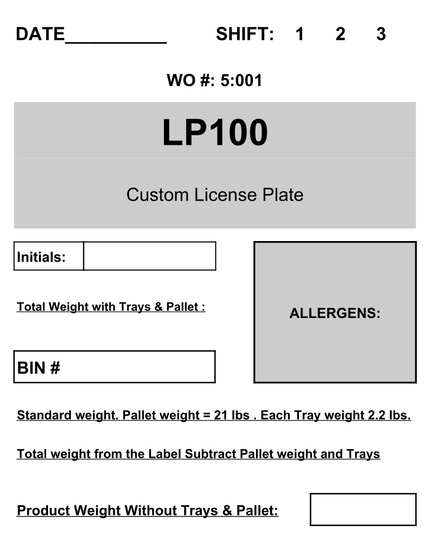 Fishbowl Work Order Report that shows Pallet Information for a Work order Finished Good.